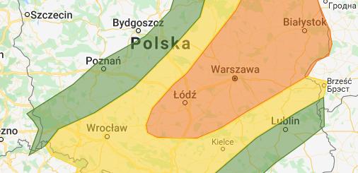 Prognoza burzowa na 11.05.2020 i noc 11/12.05.2020