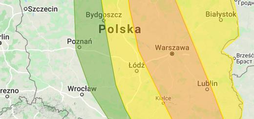 Zaktualizowana prognoza burzowa na 21.06.2020