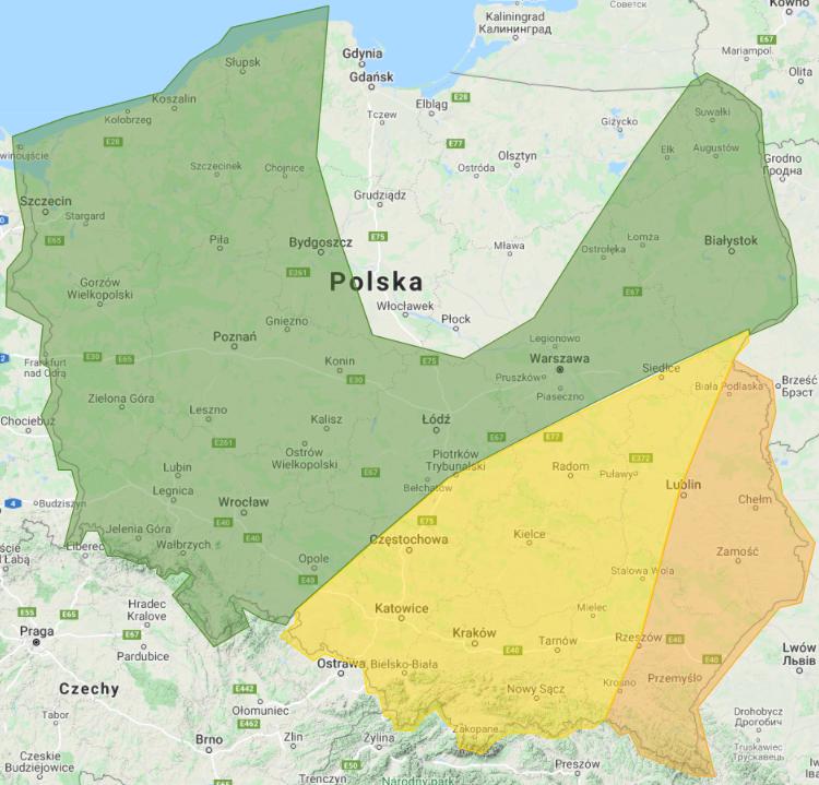 Prognoza burzowa na noc z 24/25 i 25.05.2021