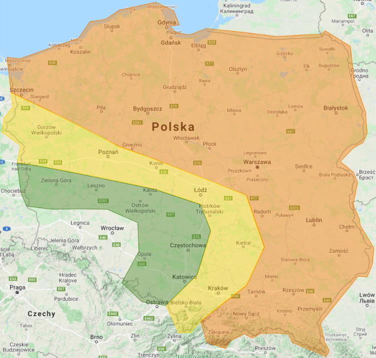 Prognoza burzowa na 30.06.2021 i noc z 30/1.07.2021