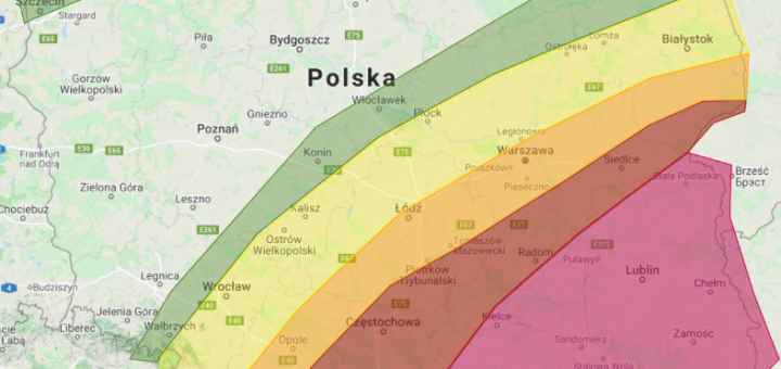 Prognoza burzowa na dzień 1.08.2021 i noc z 1/2.08.2021