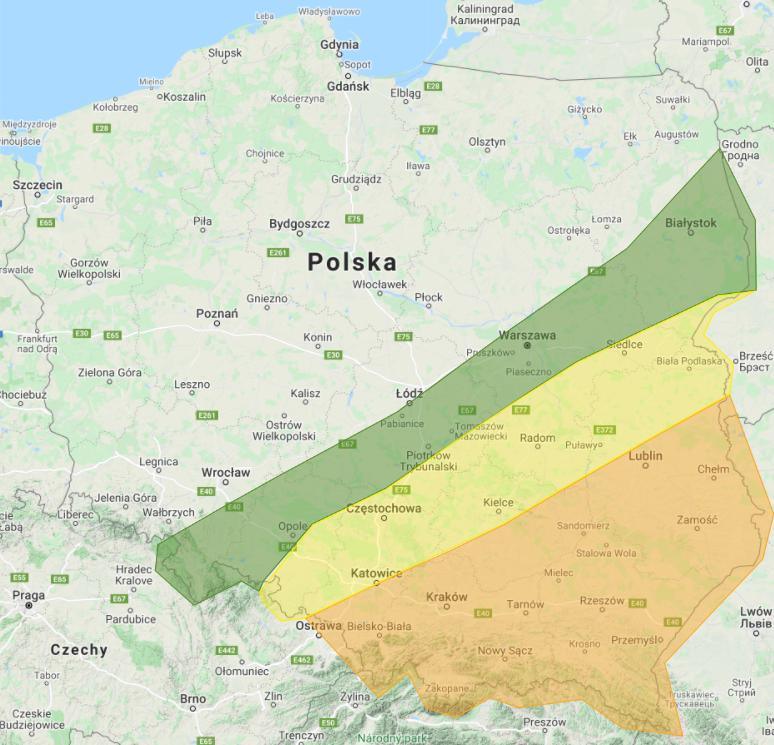 Prognoza burzowa na 18.07.2021 i noc z 18/19.07.2021