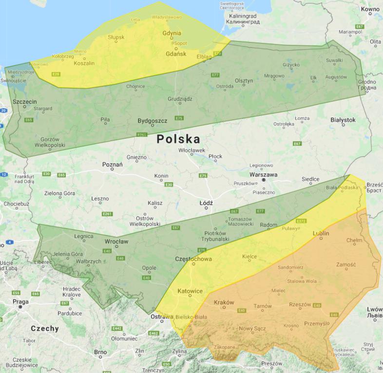 Prognoza burzowa na dzień 8.08.2021 i noc z 8/9.08.2021 - aktualizacja