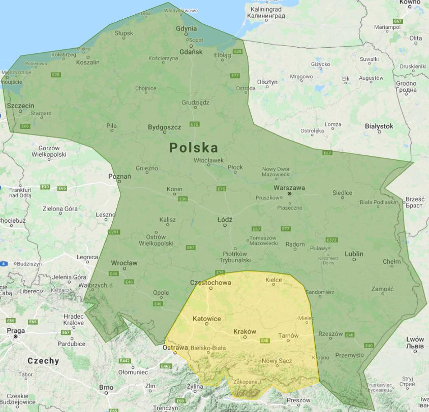 Prognoza burzowa na 16.09.2021 i noc z 16/17.09.2021